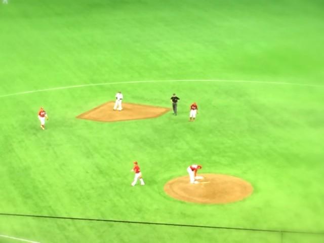 タイムリー二塁打の橋本
