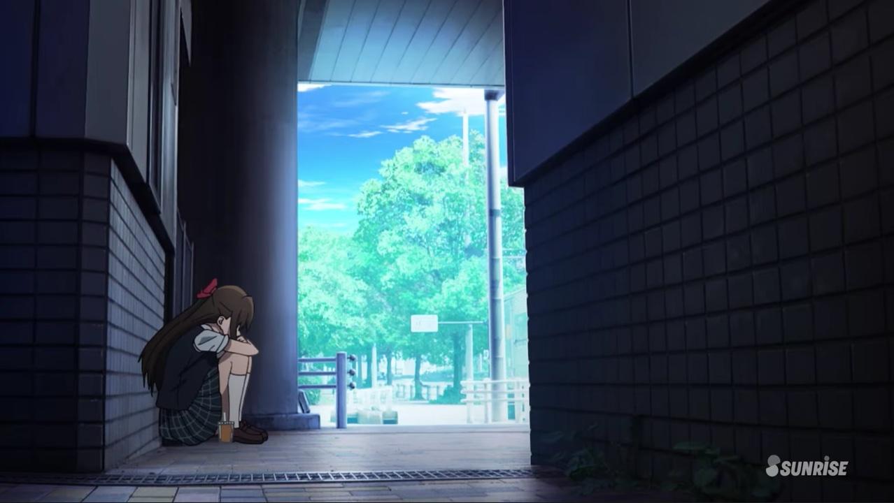 ものかげでうずくまる桜坂しずく